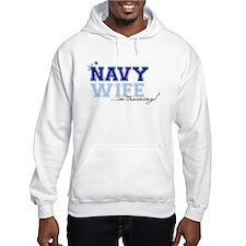 Navy wife in training Hoodie