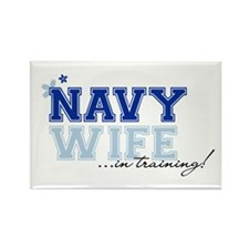 Navy wife in training Rectangle Magnet