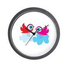 Birdies Little Birds Chicks Wall Clock