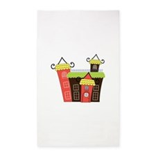 Toy Castle Royal Building Towers 3'x5' Area Rug