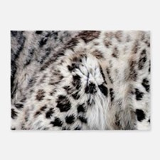 Snow Leopard 5'x7'Area Rug
