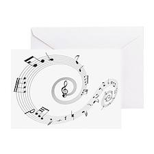 Music Notes Swirl Greeting Card