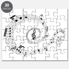 Music Notes Swirl Puzzle