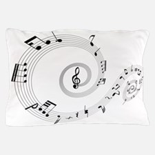 Music Notes Swirl Pillow Case