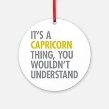 Capricorn Thing Ornament (Round)