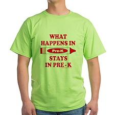 WhatHappensInPreKRed T-Shirt