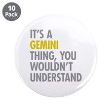 "Gemini Thing 3.5"" Button (10 pack)"