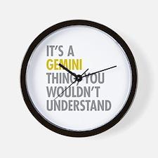 Gemini Thing Wall Clock