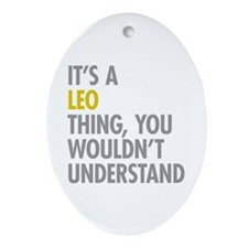 Leo Thing Ornament (Oval)