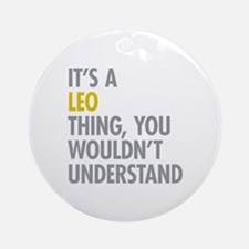 Leo Thing Ornament (Round)