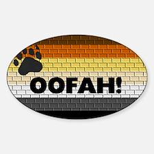 BEAR PRIDE FLAG/OOFAH! Oval Decal