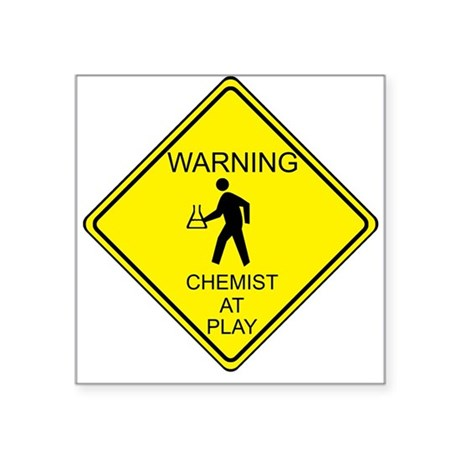 WARNING chemist at play Sticker
