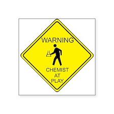 WARNING chemist at play Sticker