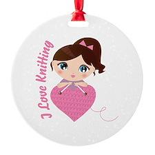 I Love Knitting Ornament