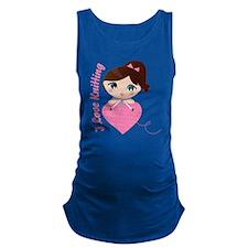 I Love Knitting Maternity Tank Top
