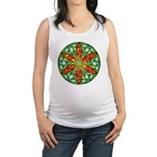 Celtic Summer Mandala Maternity Tank Top