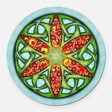 Celtic Summer Mandala Round Car Magnet