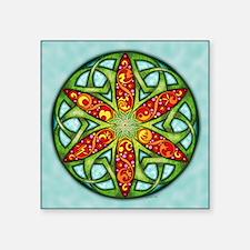 "Celtic Summer Mandala Square Sticker 3"" x 3"""