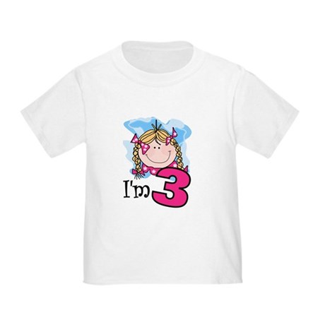 I'm 3 Blond Girl Toddler T-Shirt
