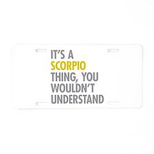 Scorpio Thing Aluminum License Plate