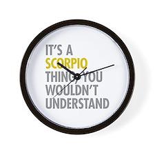 Scorpio Thing Wall Clock