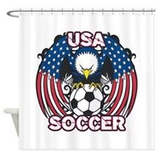 Eagle USA Soccer Shower Curtain