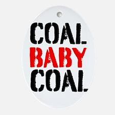 Coal Baby Coal Ornament (Oval)