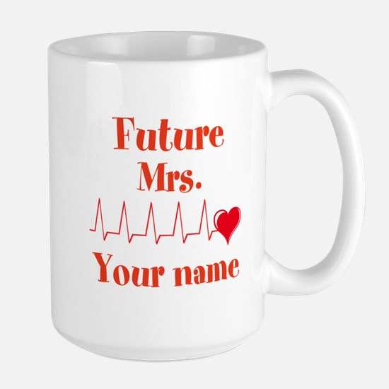 Personalizable Future Mrs. __ Large Mug