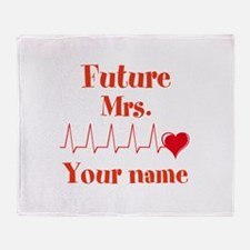Personalizable Future Mrs. __ Throw Blanket