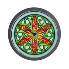Celtic Summer Mandala Wall Clock
