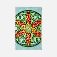 Celtic Summer Mandala 3'x5' Area Rug
