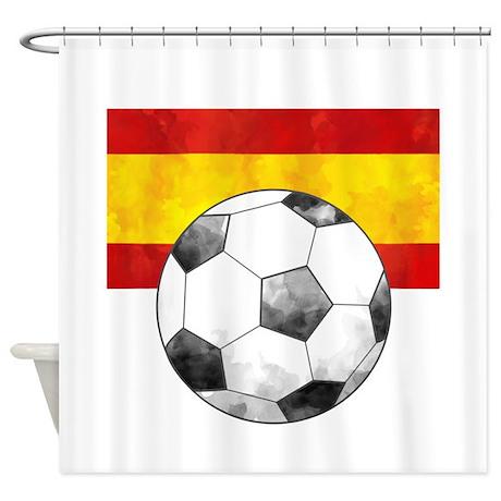 Spain Futbol Shower Curtain