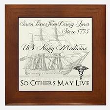 Saving Bones From Davey Jones Ii Framed Tile