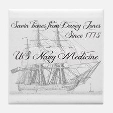 Saving Bones From Davey Jones Ii Tile Coaster