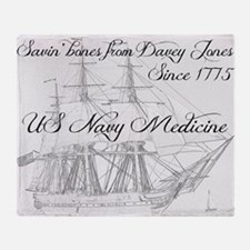 Saving Bones from Davey Jones II Throw Blanket