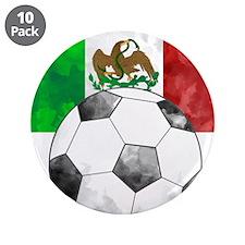 "Mexico Futbol 3.5"" Button (10 pack)"