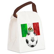 Mexico Futbol Canvas Lunch Bag