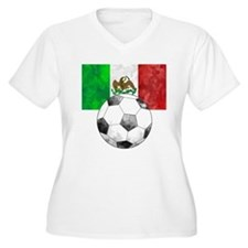 Mexico Futbol Plus Size T-Shirt