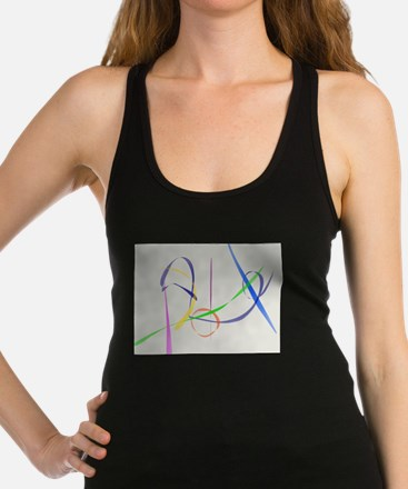 Colorful Abstract Lines Racerback Tank Top