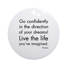 Go Confidently Ornament (Round)