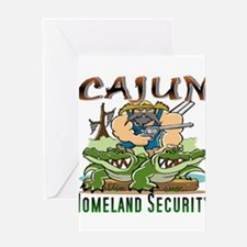 Cajun Homeland Security Greeting Cards
