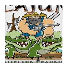 Cajun Homeland Security Tile Coaster
