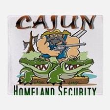 Cajun Homeland Security Throw Blanket