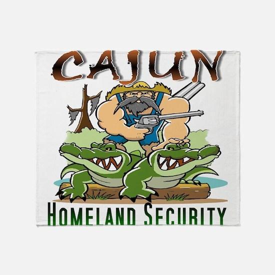 Cajun Homeland Security Throw Blanket
