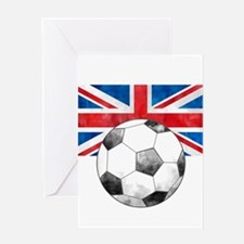 British Football Art Greeting Cards