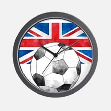 British Football Art Wall Clock