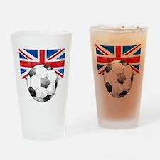 British Football Art Drinking Glass