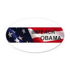 Funny Impeach obama bumper Oval Car Magnet