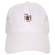 Made With Love Baseball Baseball Cap