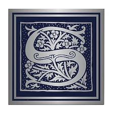 Romanesque Monogram S Tile Coaster
